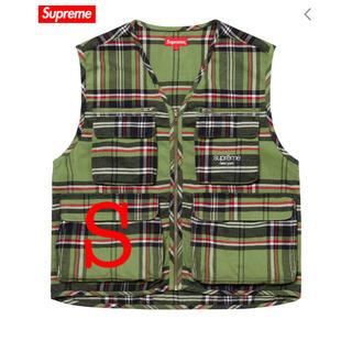 シュプリーム(Supreme)のsupreme Tartan Flannel Cargo Vest (ベスト)
