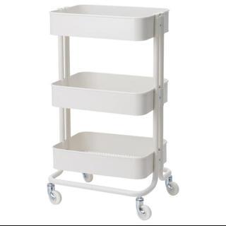 イケア(IKEA)のキッチンワゴンRÅSKOGロースコグ ホワイト要組立て 新品 IKEA (キッチン収納)