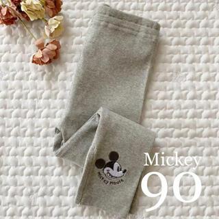 ディズニー(Disney)の新作❁*ミッキー 刺繍 レギンス90(パンツ/スパッツ)