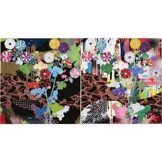 村上隆 ポスター 「京都:光琳」「雅」2枚セット ED300 Zingaro(絵画/タペストリー)