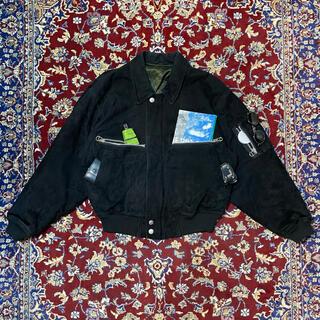 HELMUT LANG - 80s VINTAGE nubuck-leather bomber jacket