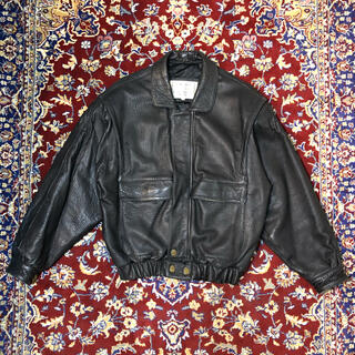 マルタンマルジェラ(Maison Martin Margiela)のVINTAGE over-silhouette leather jacket(レザージャケット)