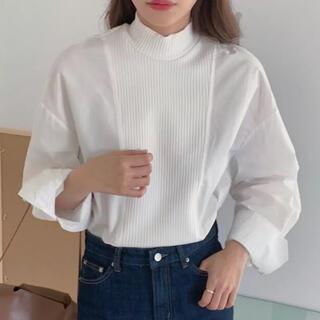 IENA - ハイブリッドニットシャツ ホワイト Mサイズ
