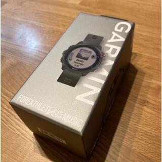 ガーミン(GARMIN)の【新品】GARMIN ForeAthlete 245 Music ブラック(腕時計(デジタル))