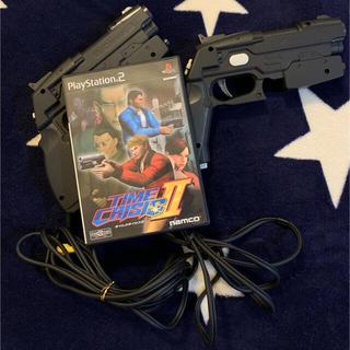 プレイステーション2(PlayStation2)の美品 TIME CRISIS2 ゲームソフトとガン型コントロールペア セット(家庭用ゲームソフト)