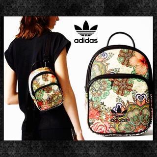 アディダス(adidas)のアディダス パイソンレザー 花柄 ショルダーバッグ リュック バックパック (ショルダーバッグ)