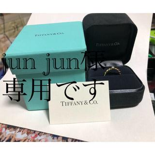 Tiffany & Co. - TIFFANY&Co ツイスト ダイヤモンドリング(k18)