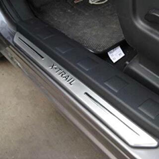 日産 - エクストレイルT31 サイドステップ外側 スカッフプレート 高品質ステンレス製