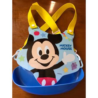 ディズニー(Disney)のミッキー   食事スタイ(お食事エプロン)