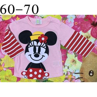 ミニ- ロンT レイヤ-ド風 60-70(Tシャツ)