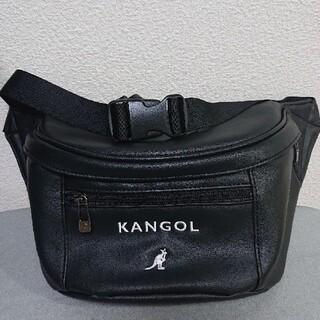 カンゴール(KANGOL)のカンゴール KANGOL ウエストバック ショルダー ボディバック ブラック(ボディーバッグ)