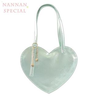 アンジェリックプリティー(Angelic Pretty)のNanNanS Pancak ハートバグ ゴールドグリーン色(トートバッグ)
