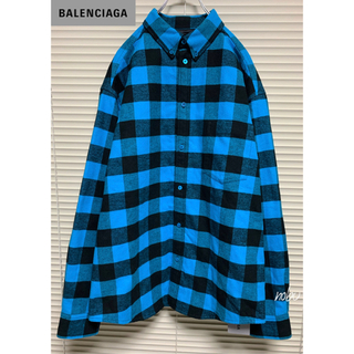 Balenciaga - 新品【 Balenciaga 】チェック オーバーサイズ フランネル シャツ