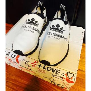 DOLCE&GABBANA - 美品ドルチェ&ガッバーナD&Gスニーカー40.5ソレント靴シューズ25.5王冠