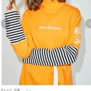 ジュエティ(jouetie)のjouetieスイッチスリーブロンTオレンジ(Tシャツ(長袖/七分))