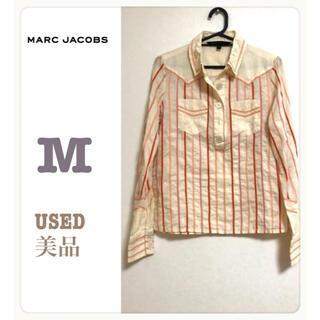 マークジェイコブス(MARC JACOBS)の【美品】Marc Jacobs襟付き カラフルストライプシャツ(シャツ/ブラウス(長袖/七分))