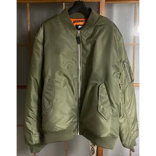 ステューシー(STUSSY)のSTUSSY CDG bomber jacket MA-1 40周年 L 未使用(フライトジャケット)