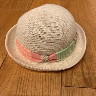 ブランシェス(Branshes)のBranshes ベビー 麦わら帽子 ハット 42〜44 女の子(帽子)
