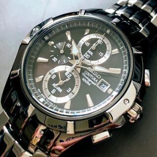 セイコー(SEIKO)の【新品】セイコー上級コーチュラ 光沢あるブラック加工★SEIKO 腕時計 メンズ(腕時計(アナログ))