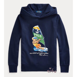 ラルフローレン(Ralph Lauren)のsale 新作 ラルフローレン ベア 裏起毛 パーカー 150センチ(Tシャツ/カットソー)