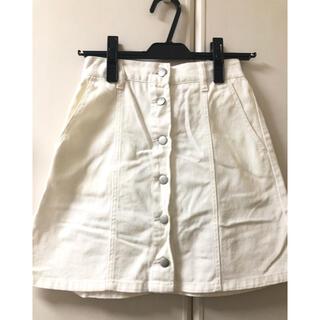 ウィゴー(WEGO)の台形スカート デニムスカート 白(ミニスカート)