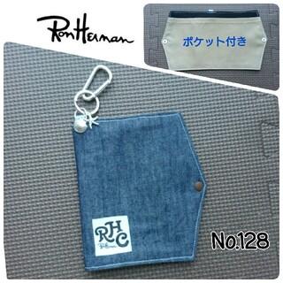 ロンハーマン(Ron Herman)のNo.128 ロンハーマンタグ デニム仮置きマスクケース インナーポケット付き(その他)