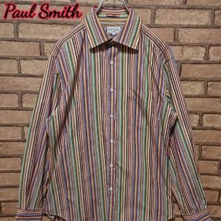 Paul Smith - PaulSmith ポールスミス マルチ カラー 総柄 長袖 ストライプ シャツ