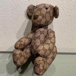 グッチ(Gucci)の超美品 グッチ GG キャンバス テディベア 置物 インテリア クマ 人形(ぬいぐるみ)