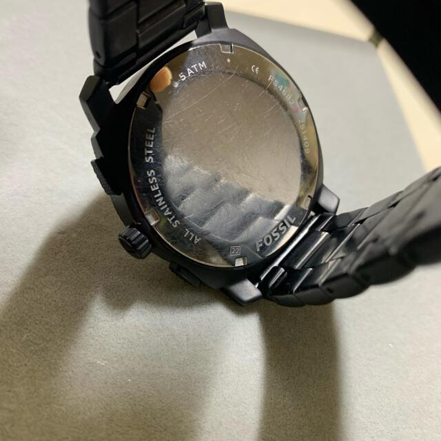 FOSSIL(フォッシル)のFOSSIL ブラックゴールド 電池切れ メンズの時計(腕時計(アナログ))の商品写真