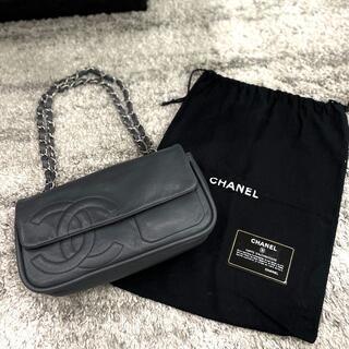 CHANEL - シャネル ラムスキン ココマーク チェーンショルダーバッグ グレー