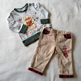 アンパンマン(アンパンマン)の90cm アンパンマン 長袖シャツ 折り返しパンツ(Tシャツ/カットソー)