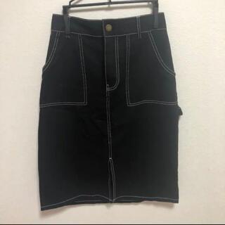 レトロガール(RETRO GIRL)のスカート 黒 古着 タイトスカート ロングスカート アプレジュール(ひざ丈スカート)