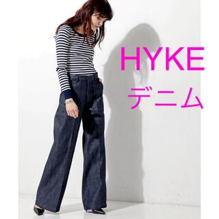 HYKE ハイク デニム ワイド ベーカー パンツ 1 アローズ