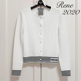 ルネ(René)のご成約済みです♡新品タグ付【Rene】2020年RENEロゴ入りカーディガン(カーディガン)