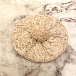 ブラウニービー(Brownie bee)のブラウニービー ぽんぽん付きニットベレー帽(ハンチング/ベレー帽)