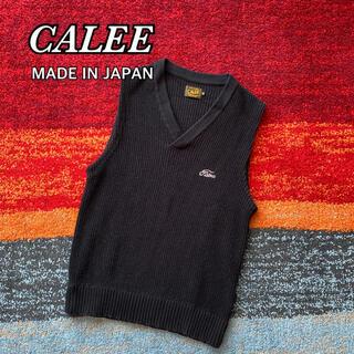 キャリー(CALEE)のCALEE キャリー ニットベスト Vネック 日本製 コットンニット(ベスト)