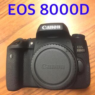キヤノン(Canon)のEOS 8000D バッテリー2個(デジタル一眼)