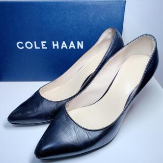 コールハーン(Cole Haan)の【送料込】コールハーン レディース  パンプス  レザー 黒 5B ブラック(ハイヒール/パンプス)