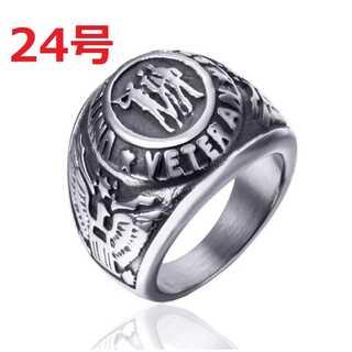 レトロ ヴィンテージ アメリカ 陸軍 海軍 アーミー シルバー 指輪 24号(リング(指輪))