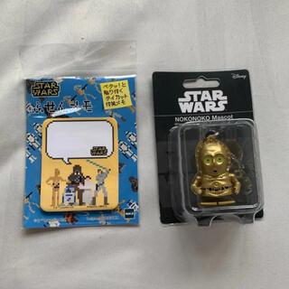 ディズニー(Disney)のスターウォーズ のこのこマスコット C3PO人形 ふせんメモ(SF/ファンタジー/ホラー)