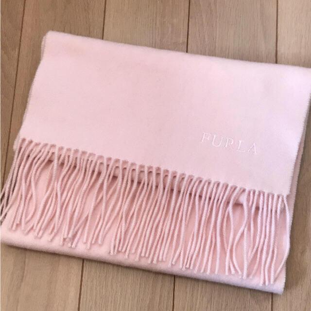 Furla(フルラ)のFURLAカシミヤピンクマフラー最終値下げ レディースのファッション小物(マフラー/ショール)の商品写真