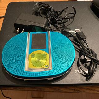 ウォークマン(WALKMAN)のSONY  ウォークマンスピーカー付 8GB ブルー NW-S644K/L(ポータブルプレーヤー)