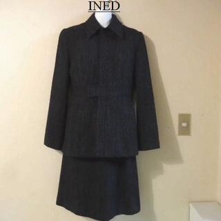 イネド(INED)のINEDイネド♡毛配合ツイードセットアップ(スーツ)