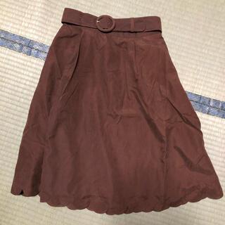 フィント(F i.n.t)のFi.n.t  膝丈スカート ブラウン(ひざ丈スカート)
