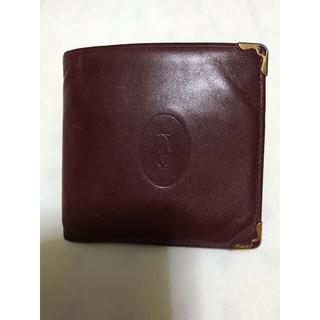 カルティエ(Cartier)のCartier カルティエ 財布 マストライン ボルドー レディース メンズ(折り財布)