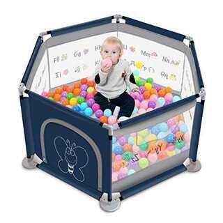 ベビーサークル ジョイント式 プレイヤード 子供 遊具 メッシュ素材(ベビーサークル)
