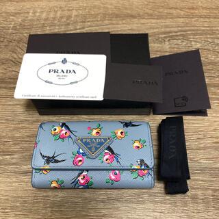 PRADA - 新品未使用 プラダ PRADA キーケース サフィアーノレザー 花柄 フラワー