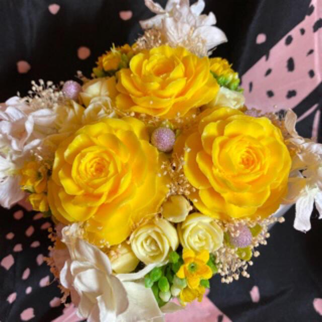 ソープカービング 黄色 薔薇 ハンドメイドのフラワー/ガーデン(その他)の商品写真
