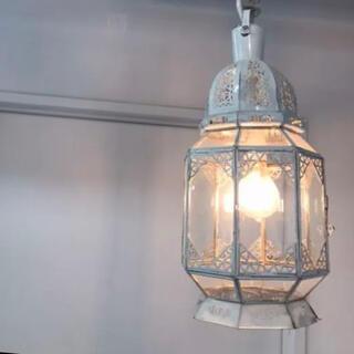 アッシュペーフランス(H.P.FRANCE)のごごご様専用 モロッコランプ ホワイト アンティーク 白(天井照明)