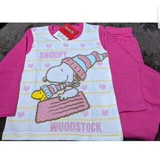 SNOOPY - PEANUTS スヌーピー 110cm 裏起毛 暖か長袖パジャマ 新品未使用品